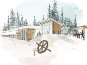 Artists rendition of Phase II of the Rossland Museum and Discovery Centre project.