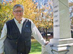 Paul Ferguson at the Langley Cenotaph