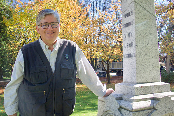Paul Ferguson at the Langley Cenotaph
