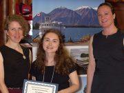 Laura Moberg accepts scholarship award