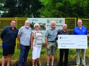 Langley Heritage Society presents cheque to the Salishan Classrooms, Township of Langley